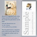 Golden Retriever List Pad