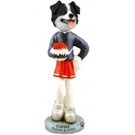 Border Collie Cheer Leader - a Doogie Figurine, imported from the USA