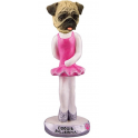 Pug Ballerina - a Doogie Figurine, imported from the USA