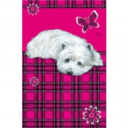 "West Highland Terrier ""Daisy"" Tea Towel"