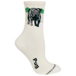 Black Pug Socks on Natural