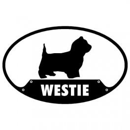 West Highland Terrier Euro Sticker