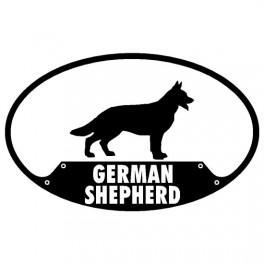 German Shepherd Euro Sticker