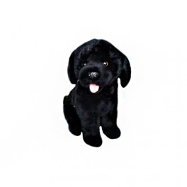 Black Labrador Darth Plush Toy by Bocchetta Plush Toys