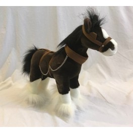 Clydesdale Horse Drover Plush Toy by Bocchetta Plush Toys