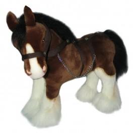 Clydesdale Horse Plush Toy Rimsky by Bocchetta