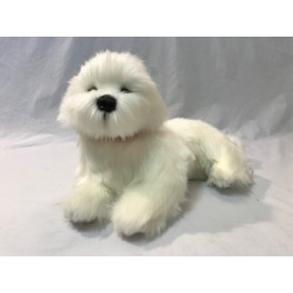 Bichon Frise Annabelle Plush Toy by Bocchetta Plush Toys
