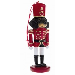 Black and Tan Dachshund Christmas Nutcracker Soldier - size 12.5 cm (h) 5 cm (w)