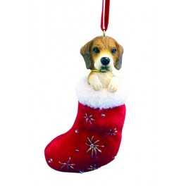Beagle in Christmas Stocking - size 10cm