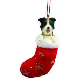 Border Collie in Christmas Stocking - size 10cm