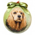 Cocker Spaniel Christmas Ball Decoration - size 7.5 cm