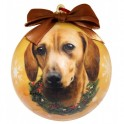 Dachshund Christmas Ball Decoration - size 7.5 cm