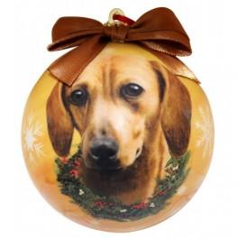 Dachshund Christmas Ball Decoration - size 7.5 cm