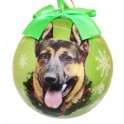 German Shepherd Christmas Ball Decoration - size 7.5 cm