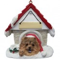 Chow in Christmas Dog House - 8 cm (h)