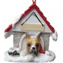 Boxer Cropped Ears Christmas Dog House - size 8 cm (h)