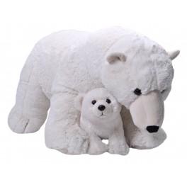 Polar Bear Mum and Baby Jumbo Cuddlekins Extra Large Plush Toy  by Wild Republic. $7.95 Postage