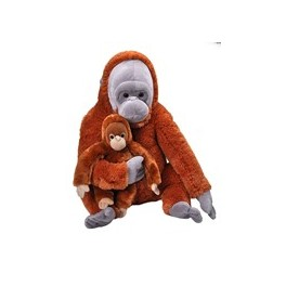 Orangutan Mum and Baby Jumbo Cuddlekins Extra Large Plush Toy by Wild Republic $7.95 Postage