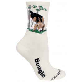 Beagle Socks Natural Colour - New Design