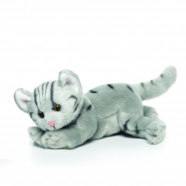 Grey Tabby Cat Plush Toy by Nat & Jules