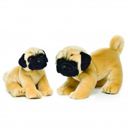 Pug Small Plush Stuffed Toy by Nat and Jules