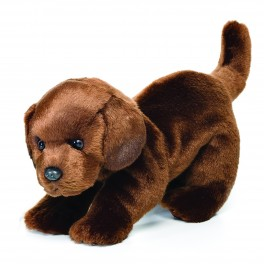 Chocolate Labrador Large Plush Toy by Nat & Jules