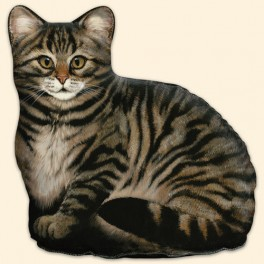 Brown Tabby Cat Doorstop
