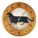 Dachshund Hand Made Wooden Clock