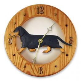 Dachshund Hand Made Wooden Clock
