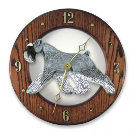 Schnauzer Hand Made Wooden Clock