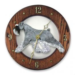 Schnauzer Hand Made Wooden Clock