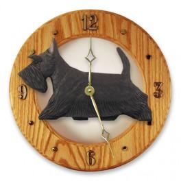 Scottish Terrier Hand Made Wooden Clock
