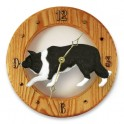 Border Collie Hand Made Wooden Clock