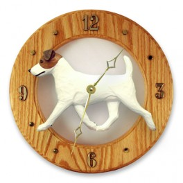 Jack Russell Hand Made Wooden Clock