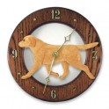 Yellow Labrador Hand Made Wooden Clock
