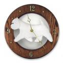 West Highland Terrier Hand Made Wooden Clock