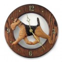Airedale Terrier Hand Made Wooden Clock