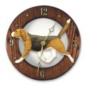 Beagle Hand Crafted Wooden Clock